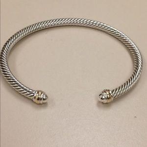 david yurman 4mm two tone bracelet